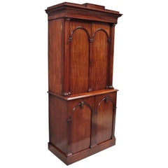 George IV Mahogany Fitted Library Cabinet / Estate Cabinet