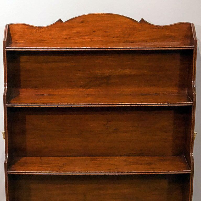 English George IV Mahogany Library Bookcase For Sale