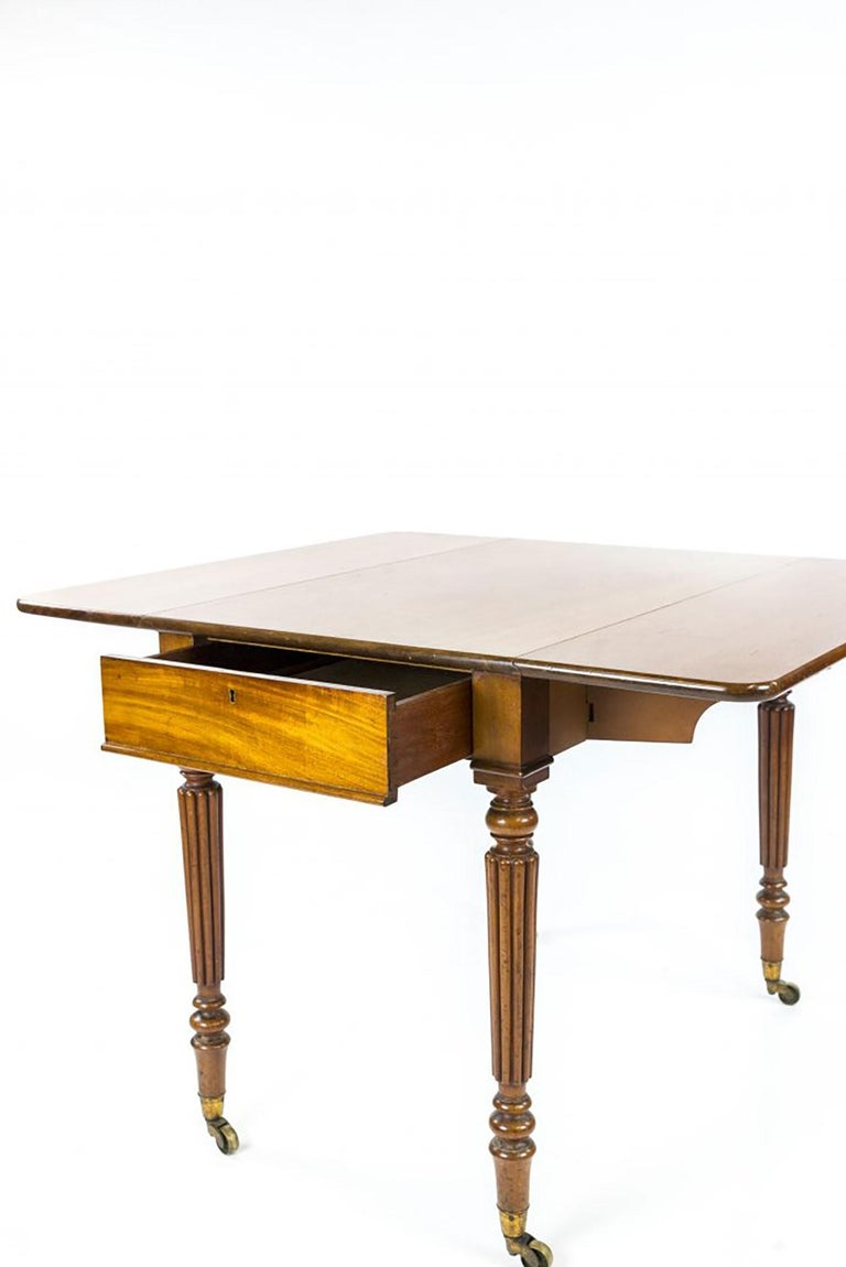 British George iv Mahogany Pembroke Table by Gillows For Sale