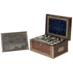George IV Period Rosewood Dressing Case By J. Corfield