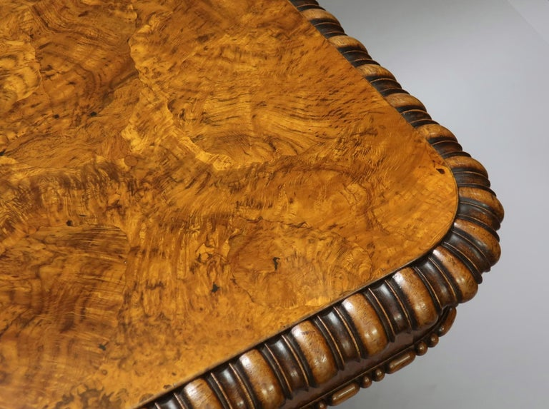 English George IV Pollard Oak Pillar End Table by Gillows For Sale