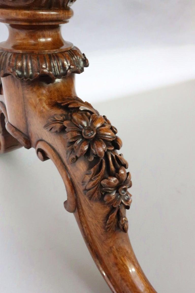 George IV Pollard Oak Pillar End Table by Gillows For Sale 1