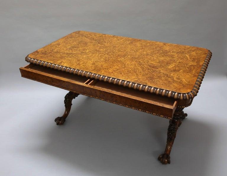 George IV Pollard Oak Pillar End Table by Gillows For Sale 4