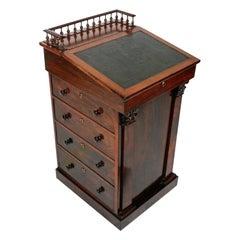 George IV Rosewood Davenport Desk, 19th Century