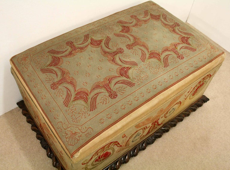 Mid-19th Century George IV Rosewood Ottoman, circa 1830 For Sale