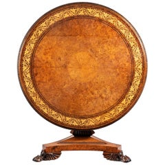 George IV Tilt-Top Centre Table by George Bullock
