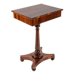 George IV Zebra Wood Lamp Table, 19th Century