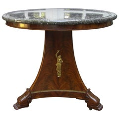 George Jacob Desmalter Empire Gueridon Round center Table Estampille 19th C. LA