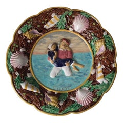 George Jones Majolica Biarritz Plate