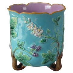 George Jones Majolica Blackberry Planter