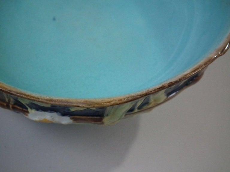 George Jones Majolica Cobalt Muffin Dish and Cover 11
