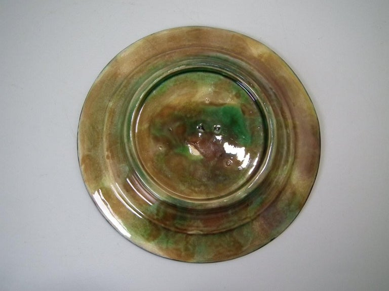 George Jones Majolica Cobalt Muffin Dish and Cover In Good Condition In Chelmsford, Essex
