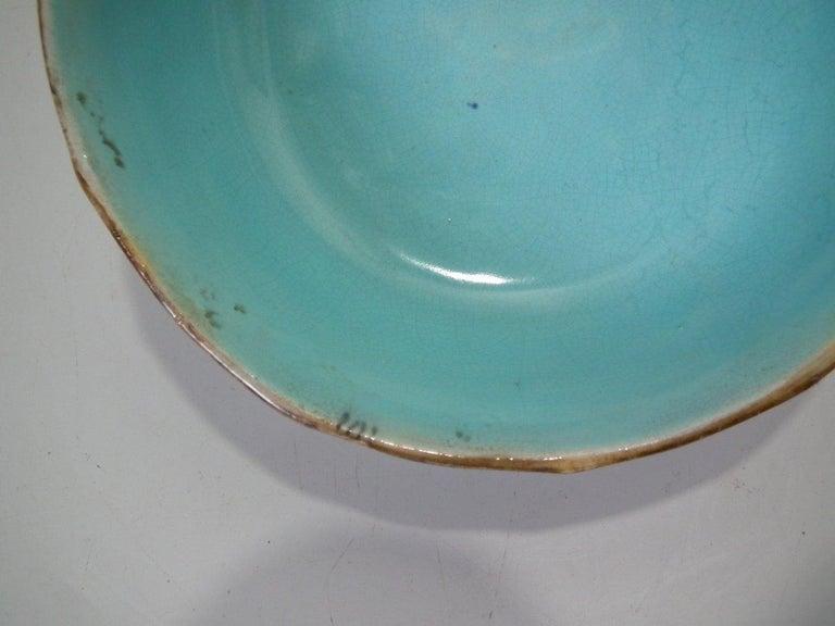 George Jones Majolica Cobalt Muffin Dish and Cover 2