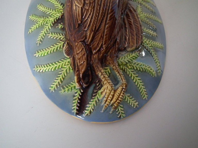 George Jones Majolica Partridge Game Pie Dish and Cover For Sale 8