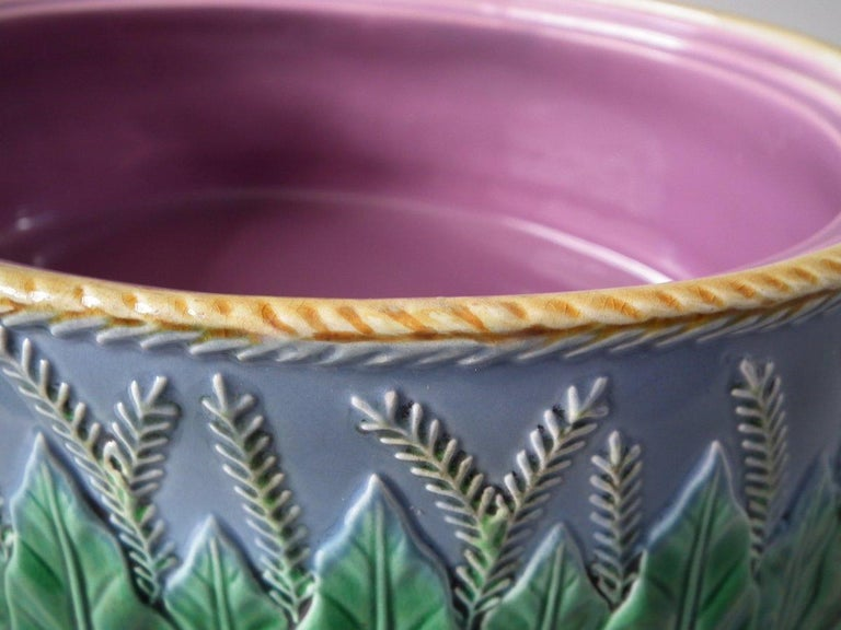 Late 19th Century George Jones Majolica Partridge Game Pie Dish and Cover For Sale