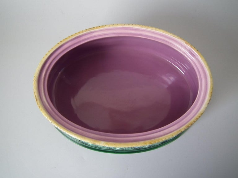 George Jones Majolica Partridge Game Pie Dish and Cover For Sale 3