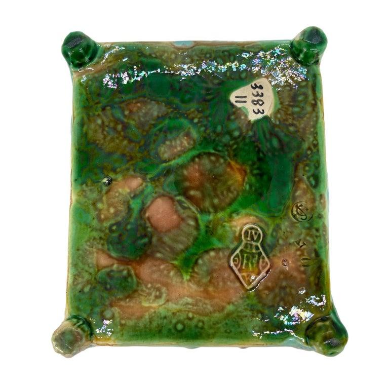 George Jones Majolica Turquoise Sardine Box, Duck and Fish, English, ca. 1874 For Sale 11