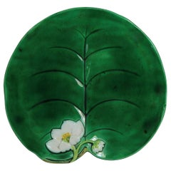 George Jones Majolica Water Lily Plate