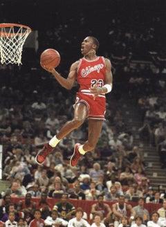 Michael Jordan at his first All-Star game, Indianapolis