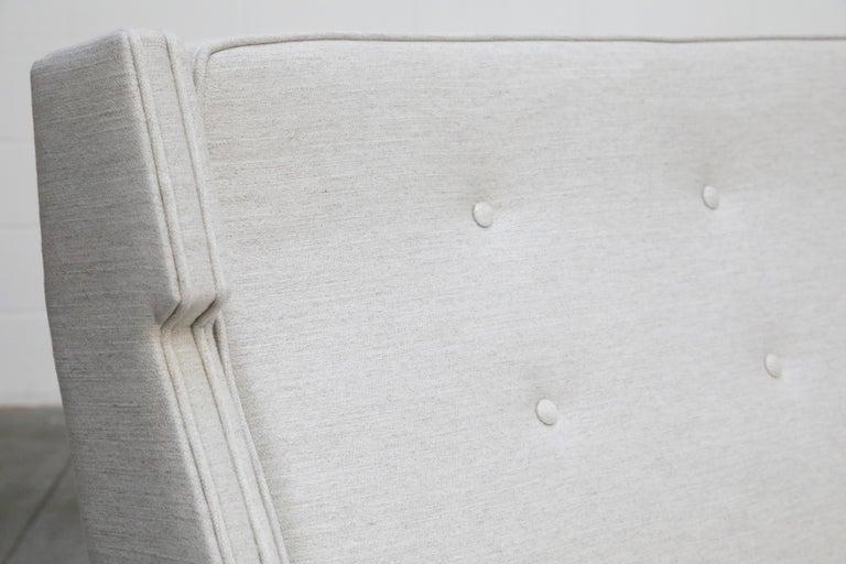 George Kasparian Wingback Sofa on Sculptural Walnut Base 5