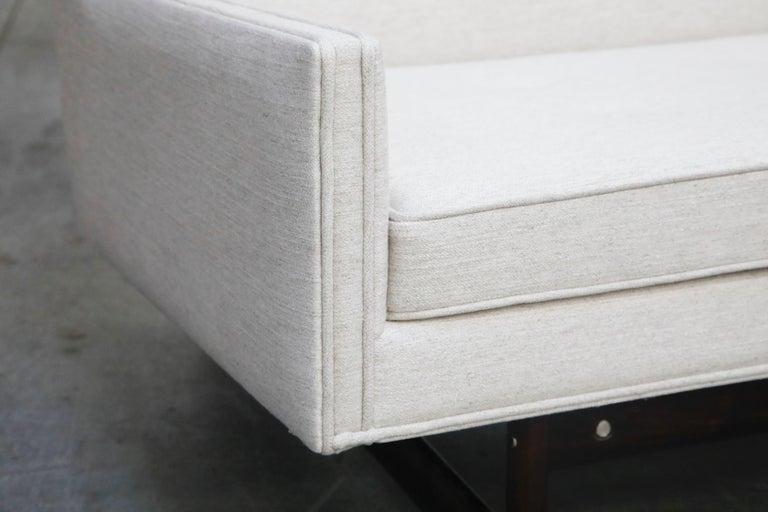 George Kasparian Wingback Sofa on Sculptural Walnut Base 6