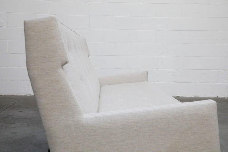 George Kasparian Wingback Sofa on Sculptural Walnut Base 7