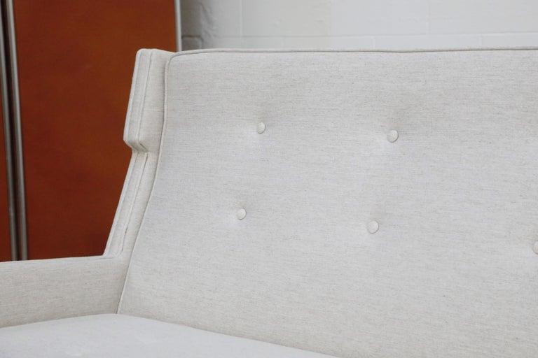 George Kasparian Wingback Sofa on Sculptural Walnut Base 9