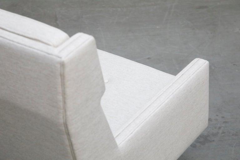 George Kasparian Wingback Sofa on Sculptural Walnut Base 10