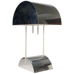 George Kovacs Chrome and Lucite Table Lamp