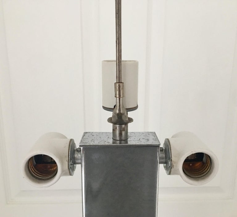 Late 20th Century George Kovacs Mid-Century Modern Chrome Metal Floor Lamp For Sale