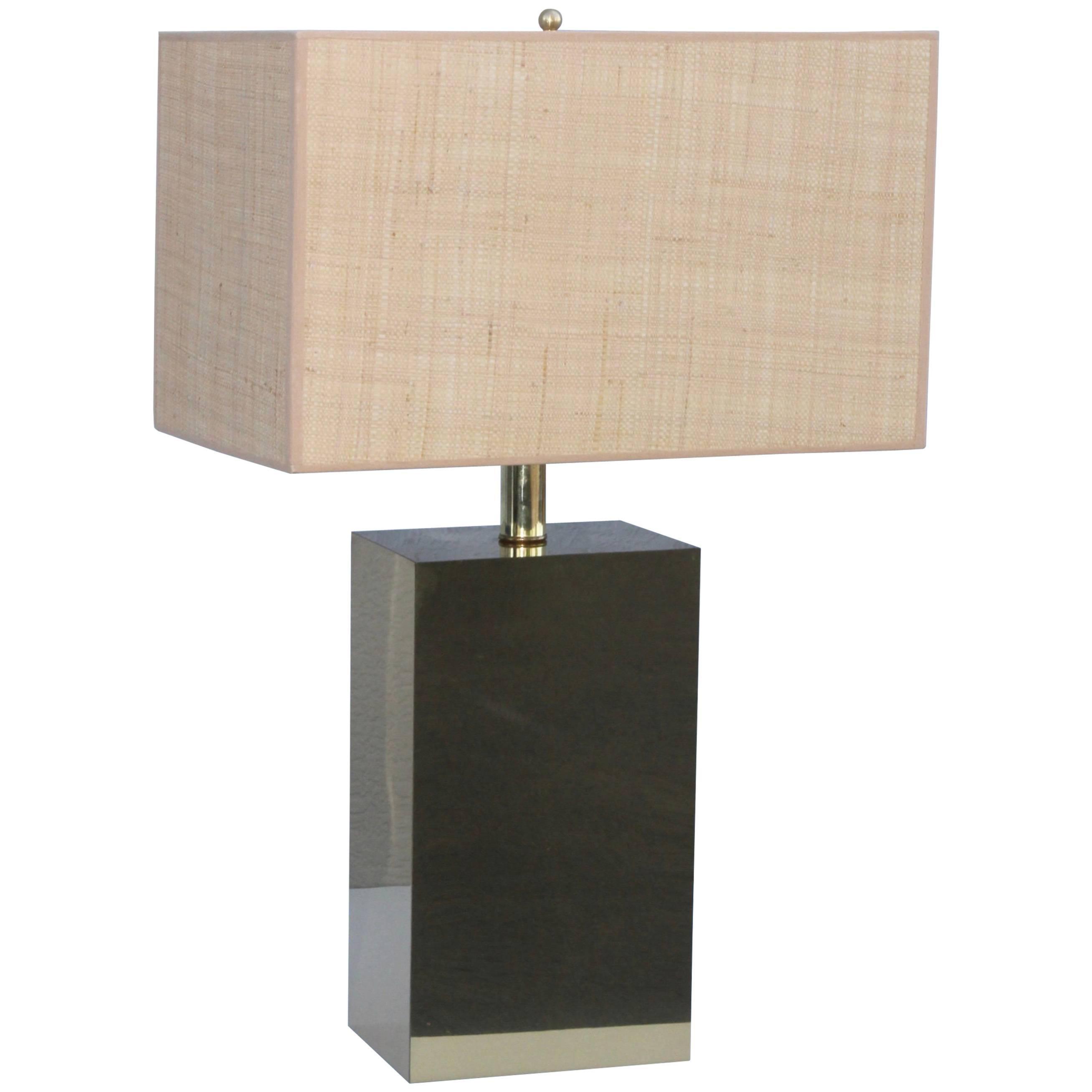 George Kovacs Modernist Brass Table Lamp