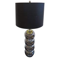 George Kovacs Stacked Chrome Sphere Lamp