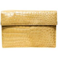 George Kuc Paris Beige Crocodile Handbag