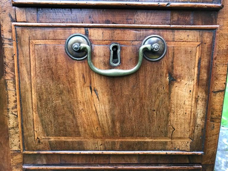 18th Century George I Walnut Secretaire Kneehole Desk For Sale