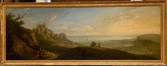 Breathtaking 18th Century Oil Painting Landscape - View of Dover Castle & Bay