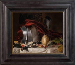 George Lance, still life with armor, 1820-1830, oil on canvas, signed