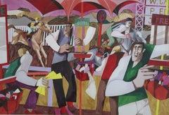 George Large, Horse racing, Cubist art