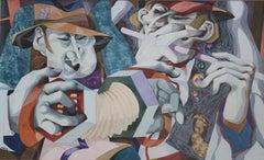 George Large, Street Musicians, Cubist art