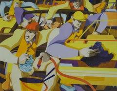 George Large, Sunday morning, Cubist art