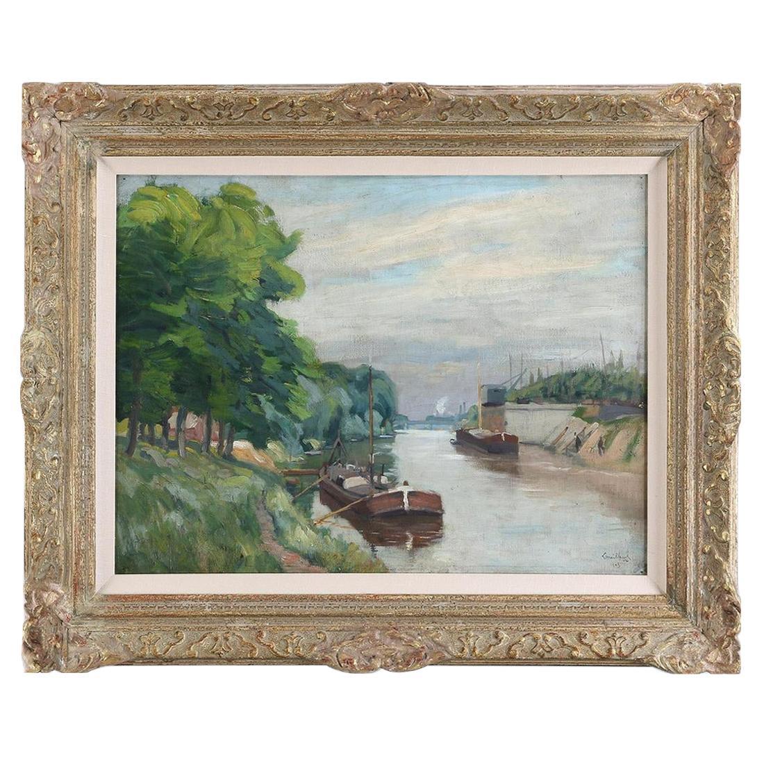 George Le Meilleur French Landscape Oil Painting, Signed 1903