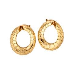 George L'Enfant for Cartier Paris Vintage Gold Clip Hoop Earrings