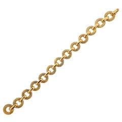 George L'enfant for Fred Paris Gold Link Bracelet