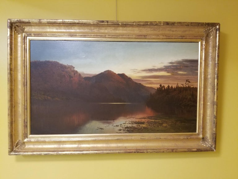 Crescent Moon over Lake Placid - Painting by George McCord
