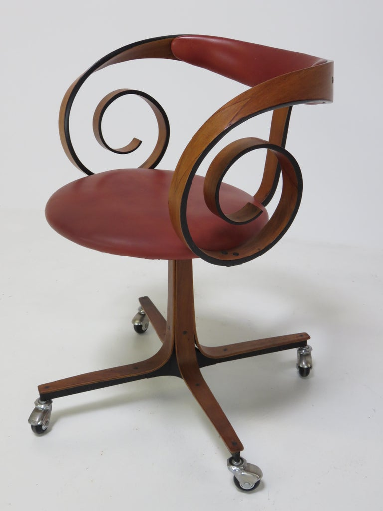 Mid-20th Century George Mulhauser Desk Chair For Sale