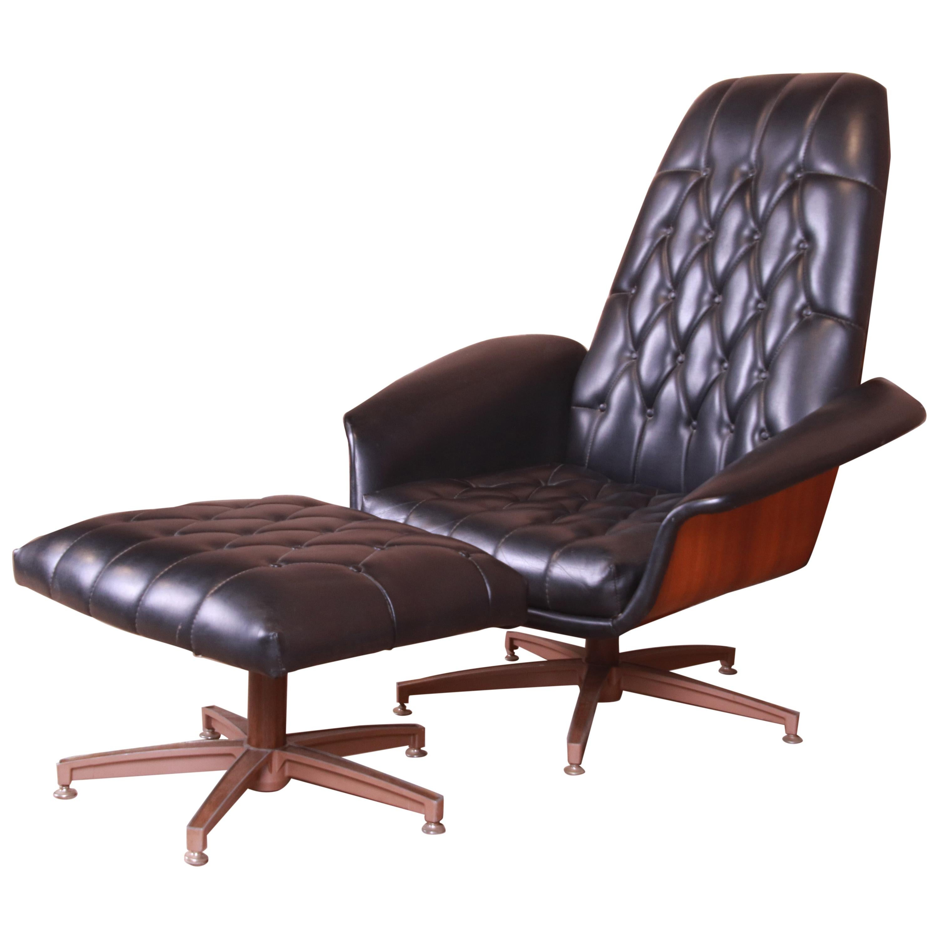 """George Mulhauser for Plycraft """"Mister"""" Lounge Chair with Ottoman, 1960s"""