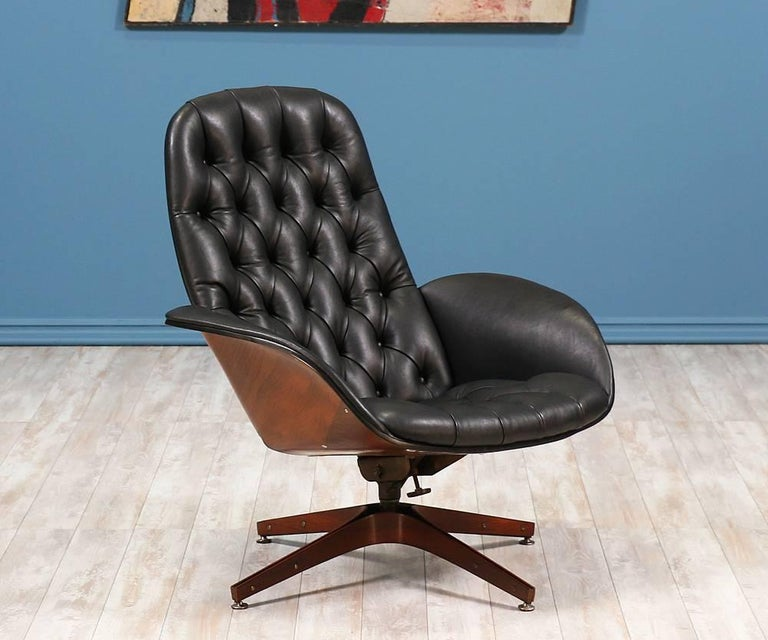 George Mulhauser Quot Mr Chair Quot Leather Swivel Chair For