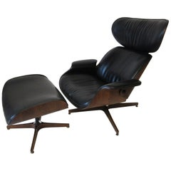 "George Mulhauser ""Mr. Chair"" Lounger with Ottoman for Plycraft"