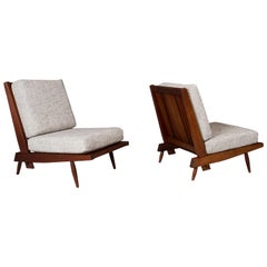 George Nakashima, Armless Cushion Chairs, Ca 1960s