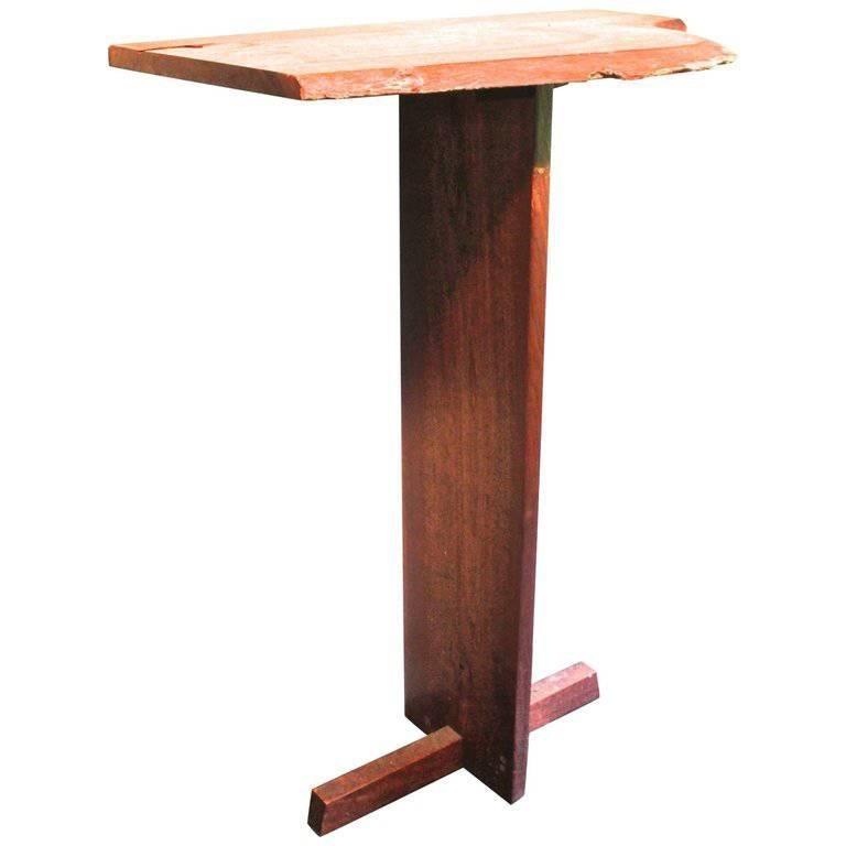 George Nakashima Attributed Walnut 'Minguren' Pedestal Table