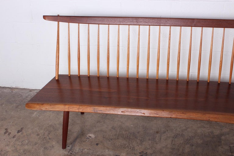 George Nakashima Bench, 1976 In Good Condition For Sale In Dallas, TX